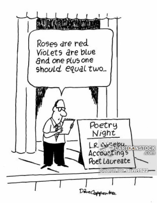 'Rosas são vermelhas/Violetas são azuis/e um mais um/deveria ser igual a dois' NOITE DE POESIA